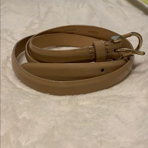J Crew Beige Patent Leather Waist Belt Medium